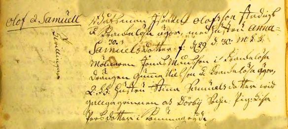 Fdl 1780 Ljungby Olof o Samuel Stadig