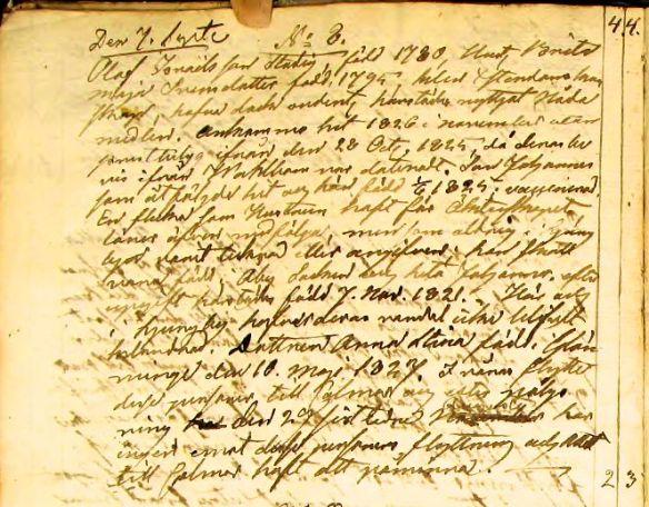 Utfl Glömminge 1830 Olof Stadig