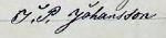 J P Johanssons namnteckning kopiera