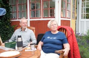 Gösta Nyman och hans hustru vid Sandhagen