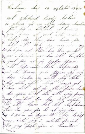 Amerikabrevet sid 1
