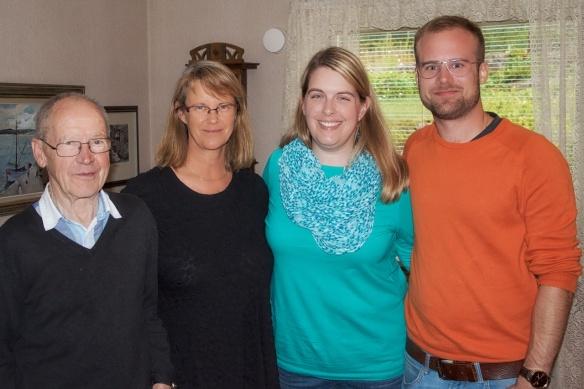 Allan Bengtsson, Helena Wåhlin, Sara Kidd och Christoffer Wåhlin (5-männing med Sara K.)