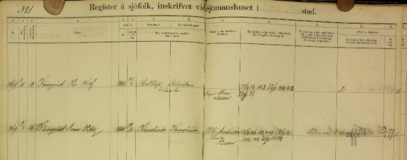Sjömansregister JP Törnqvist