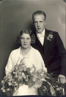 Hilding Person och Margit Landberg, bröllopsfoto från den 4 augusti 1934